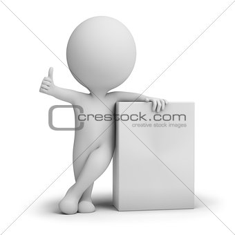 3d small people - empty product box
