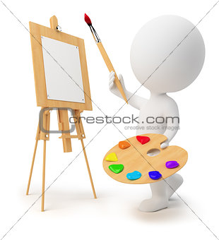 3d small people - painter