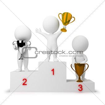 3d small people - rewarding of winners