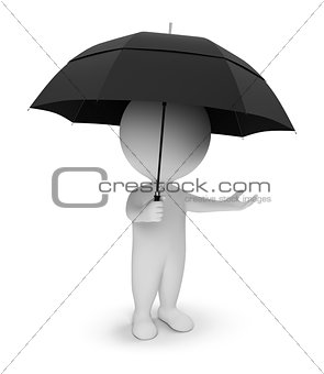 3d small people - umbrella