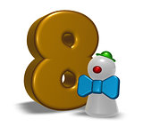 number eight and clown