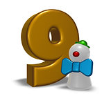 number nine and clown