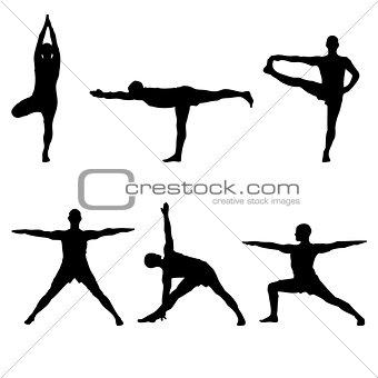six yoga standing poses