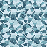 Blue cut circles