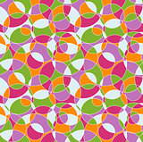 Colored cut circles