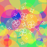 Multicolor seamless pattern with white pattern
