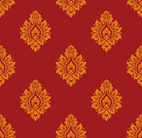 Seamless vintage damask pattern