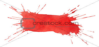 Blot of red watercolor