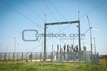 Power transformator between wind turbines
