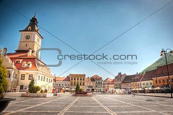 City center of Brasov, Romania