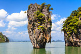 James Bond island Ko Tapu in Phang Nga bay.
