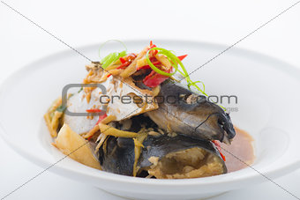 steam fish head