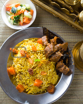 arab rice, ramadan food in middle east usually served with tando