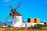 windmill in Tiscamanita, Fuerteventura, Canary Islands, Spain