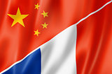 China and France flag