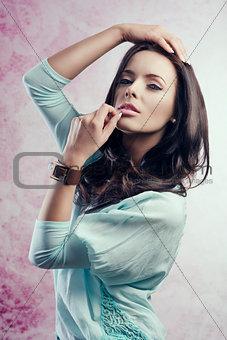 portrait of caucasian pretty girl