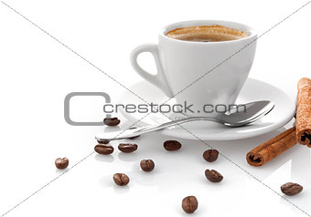 cup coffee with cinnamon
