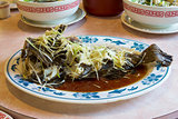 Steamed Whole Fish with Ginger and Scallions