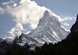 Mountain Matterhorn above Zermatt