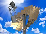 Directional antenna solar panels