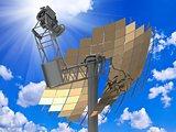 Directional antenna solar panels
