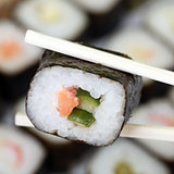 Japanese Sushi on chopsticks
