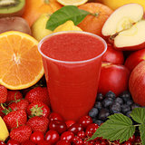 Fresh juice from fruits like oranges, berries and strawberries