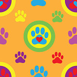 Pawprint Seamless Pattern