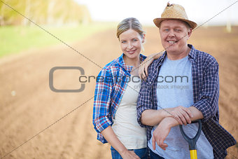 Farmers on the field