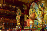 Buddha in Tooth Relic Temple in China Town, Singapore