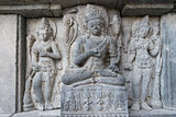 Carving in Prambanan temple, Indonesia