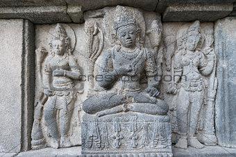 Carving in Prambanan temple, Indonesia