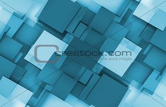 3D Squares Background