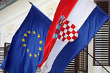 EU and Croatian flags