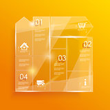 Glass framework set. Vector illustration.