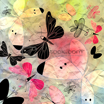 bright background butterfly