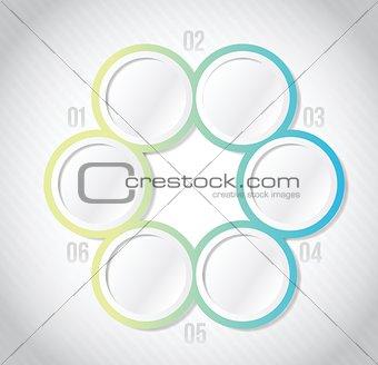 circular Infographics template illustration