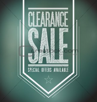 chalkboard clearance sale poster sign banner