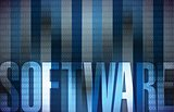 software Technology background blue binary