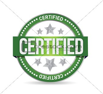 Certified stamp seal illustration design