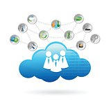 communication cloud illustration design