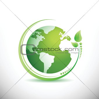 Green earth. Ecology concept.