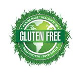 Gluten Free food label. illustration design