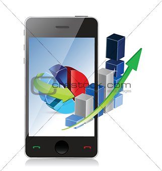 Modern Technology Business Concept phone