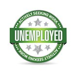 Unemployed Stamp illustration