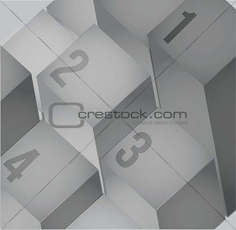 Abstract cubes background with copy spaces.