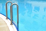 Swimming pool grab bars ladder