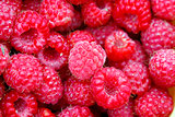 Many raspberries as a texture