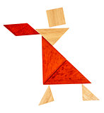 tangram dancer or waitress