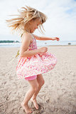 Young girl having fun at beach